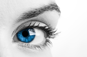 Ein Auge schaut dich an.